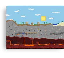 Minecraft World Canvas Print