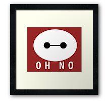 Baymax: Oh No Framed Print