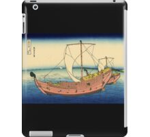 'The Kazusa Sea Route' by Katsushika Hokusai (Reproduction) iPad Case/Skin