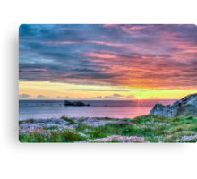 Sunset in France Canvas Print