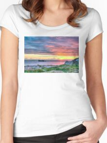 Sunset in France Women's Fitted Scoop T-Shirt