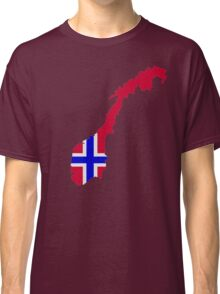 Norway map flag Classic T-Shirt
