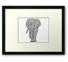 Cartoon Elephant  Framed Print