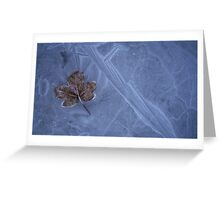 Frozen Leaf On Ice Greeting Card