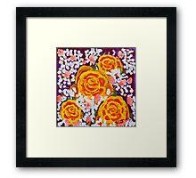 Fiery Bouquet Framed Print
