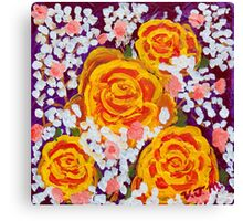 Fiery Bouquet Canvas Print