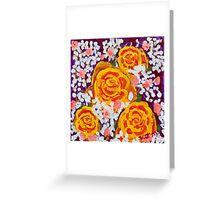 Fiery Bouquet Greeting Card