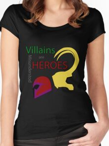 Villains are Heroes Women's Fitted Scoop T-Shirt