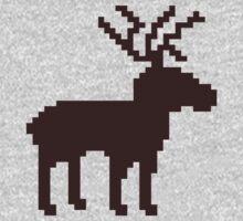 Pixel reindeer Kids Clothes