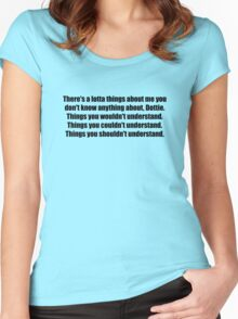 Pee-Wee Herman - There's a Lotta Things - Black Font Women's Fitted Scoop T-Shirt