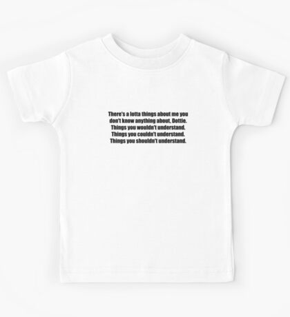 Pee-Wee Herman - There's a Lotta Things - Black Font Kids Tee