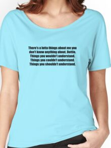 Pee-Wee Herman - There's a Lotta Things - Black Font Women's Relaxed Fit T-Shirt