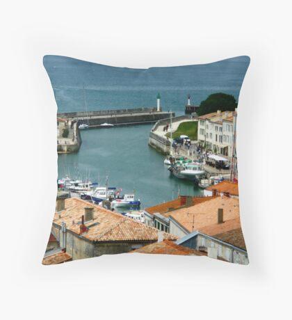 Le Port St.Martin - Ile de Ré Throw Pillow