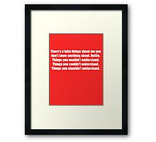 Pee-Wee Herman - There's a Lotta Things - White Font Framed Print