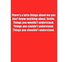 Pee-Wee Herman - There's a Lotta Things - White Font Photographic Print