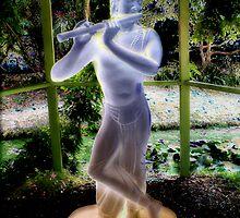 Krishna in the Garden of Saints by Leslie Robinson