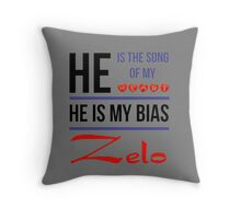 HE IS MY BIAS Zelo - Grey Throw Pillow