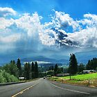 The road to Mt. Hood by Barbara Anderson