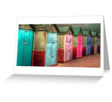 Beach Huts Greeting Card