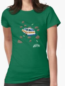 Space Station Wagon Womens Fitted T-Shirt