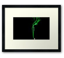 Coloured Smoke Green Framed Print