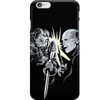 Gandalf vrs Voldemort - A Wizards Duel iPhone Case/Skin