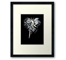 Gandalf vrs Voldemort - A Wizards Duel Framed Print
