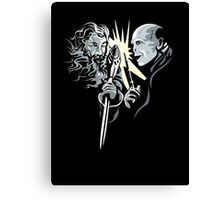 Gandalf vrs Voldemort - A Wizards Duel Canvas Print