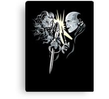 Gandalf vrs Voldemort - A Wizards Duel Canvas Print
