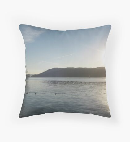 Lake Windermere in December 2008 Throw Pillow