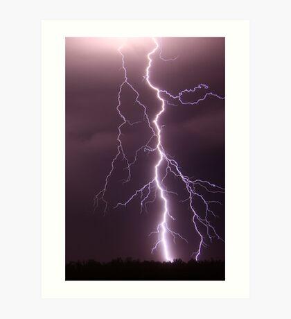 Millmerran Lightning Art Print