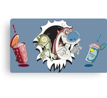 Ren & Stimpy - Oh Joy! Brains... Canvas Print