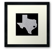 Houston, TX Glitter State Framed Print