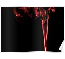 Coloured Smoke Red Poster