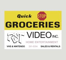 Quick Stop Groceries and RST Video Inc. T-Shirt