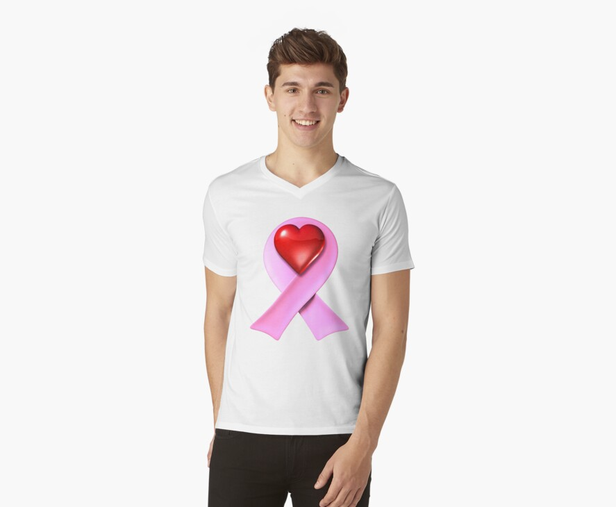 Breast Cancer Awareness Pink Ribbon Heart by bmgdesigns