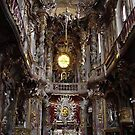 altar at Amsakirche cathedral, Munich by chord0
