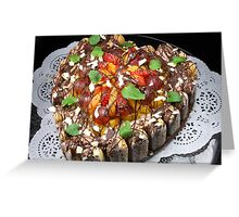 Opus of Love, Chocolate And Fruits Greeting Card
