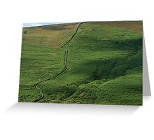 Winding Wall Greeting Card