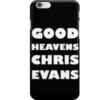 Good Heavens Chris Evans (white) iPhone Case/Skin
