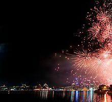 Sydney Fireworks NYE 2008 by Alex Lau