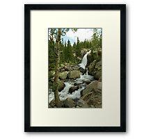 Alberta Falls Framed Print