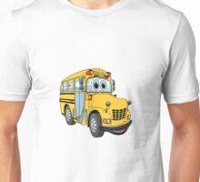 School Bus Cartoon Unisex T-Shirt