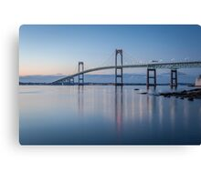 Newport Bridge at Twilight Canvas Print