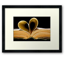 I Love to Read Framed Print