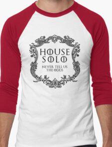 House Solo (black text) Men's Baseball ¾ T-Shirt