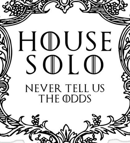 House Solo (black text) Sticker
