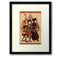 Fire Angels Framed Print