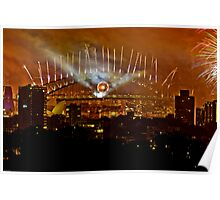 Sydney New Years Eve Fireworks 2009 - 4 Poster