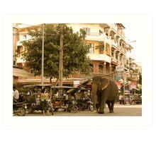 Traffic Jam Phnom Penh Art Print